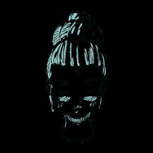 Ilustración de pelo mujer cara moño Transparent PNG