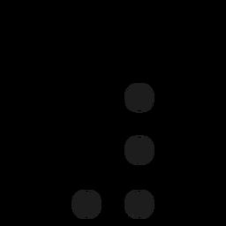 Hashtag dot spot stroke