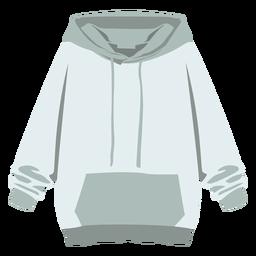 Pulôver de camisola com capuz liso