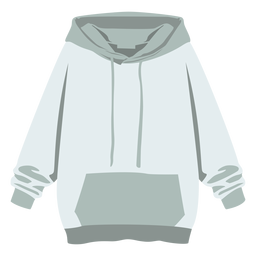 Sudadera con capucha suéter plano