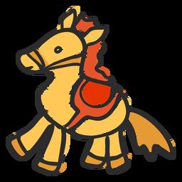 Doodle de passatempo de cavalo
