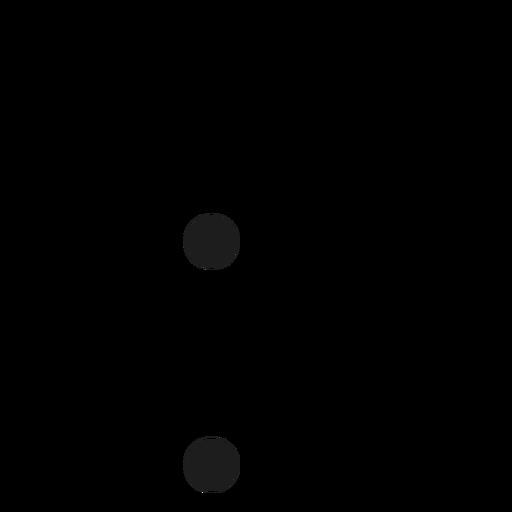 K k letter dot spot stroke Transparent PNG