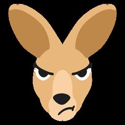 Bozal de canguro enojado pegatina plana