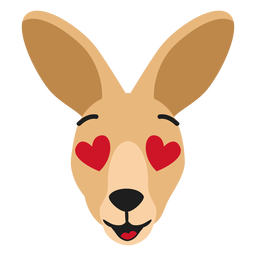 Bozal canguro enamorado pegatina plana