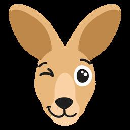 Bozal canguro alegre pegatina plana