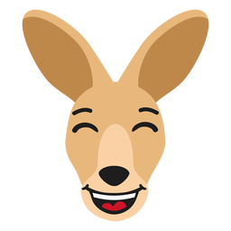 Kangaroo muzzle happy flat sticker