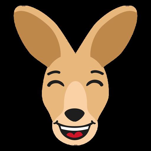 Kangaroo muzzle happy flat sticker Transparent PNG