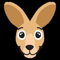 Bozal de canguro alegre pegatina plana