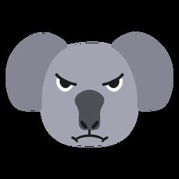 Bozal Koala enojado pegatina plana