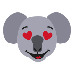 Focinho de coala apaixonado adesivo plano