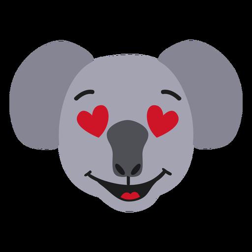 Bozal Koala enamorado pegatina plana Transparent PNG
