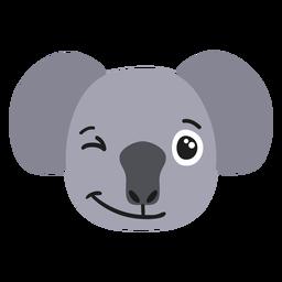 Autocolante plano feliz de focinho de coala