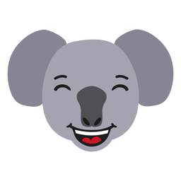 Bozal Koala feliz pegatina plana