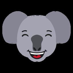 Koala muzzle happy flat sticker