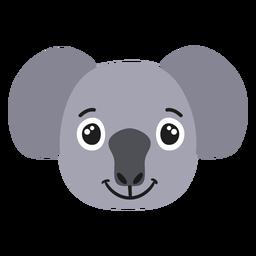 Autocolante plano alegre de focinho de coala