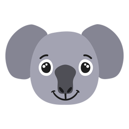 Bozal Koala alegre pegatina plana