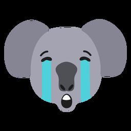 Autocolante plano triste de focinho de coala
