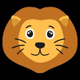 Autocolante plano alegre de focinho de leão