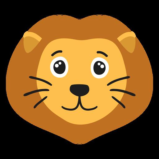 Lion muzzle joyful flat sticker Transparent PNG
