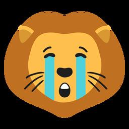 Lion muzzle sad flat sticker
