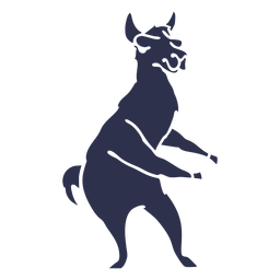Dança de lhama dançando silhueta detalhada
