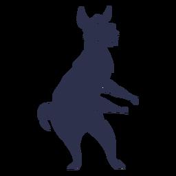 Llama danza bailando silueta detallada