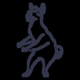 Llama danza baile trazo
