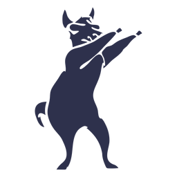 Llama dancing dance detailed silhouette