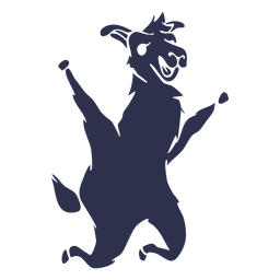 Llama jumping happy detailed silhouette
