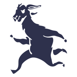 Llama running detailed silhouette