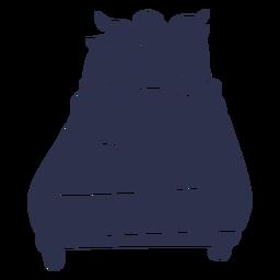Ausführliches Schattenbild des Lamaschlafenbetts