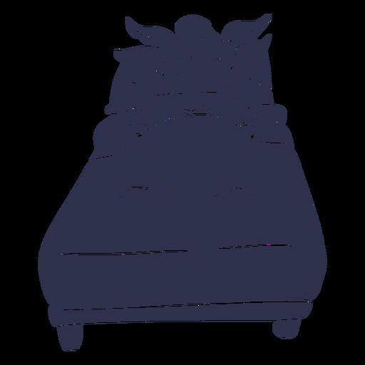 Llama silueta detallada de cama para dormir