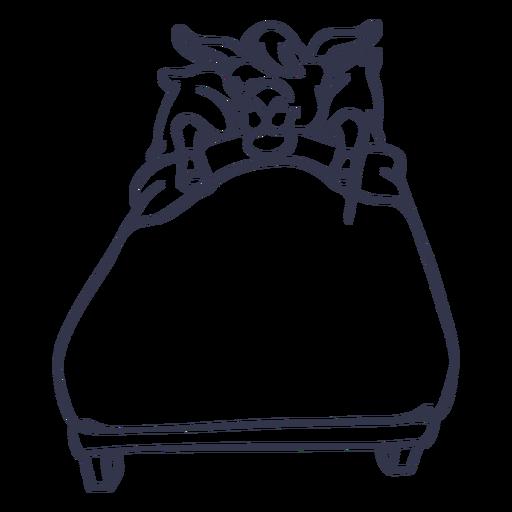 Llama dormir cama movimiento Transparent PNG