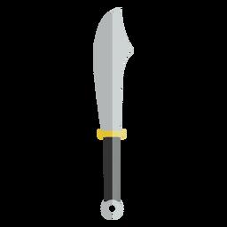 Vetor de faca facão plana