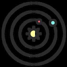 Karte Sonne flachen Strich