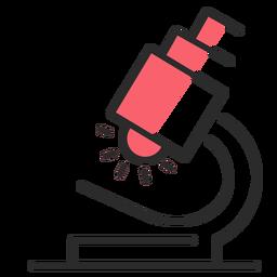 Trazo plano de microscopio