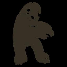 Mole dancing dance detailed silhouette