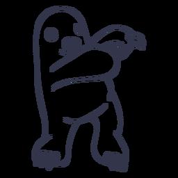 Mole dancing dance stroke
