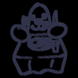 Curso de tabela de prato de toupeira