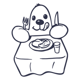 Trazo de mesa de plato de mole