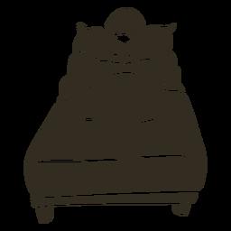 Mole cama de dormir silueta detallada