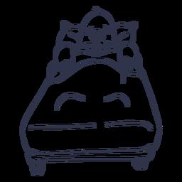 Mole sleeping bed stroke