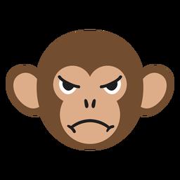 Monkey muzzle angry flat sticker