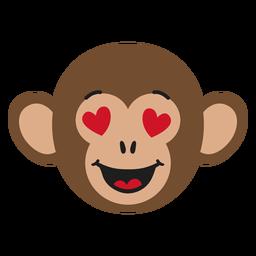 Bozal mono enamorado pegatina plana