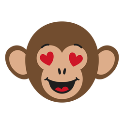 Monkey muzzle enamoured flat sticker