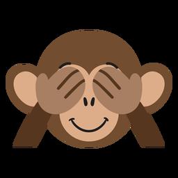 Autocolante liso lúdico com focinho de macaco