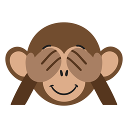 Etiqueta engomada plana juguetona del hocico del mono