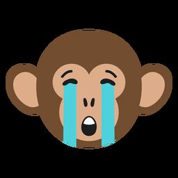 Bozal mono triste pegatina plana