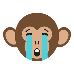 Monkey muzzle sad flat sticker
