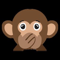 Etiqueta engomada plana silenciosa del hocico del mono